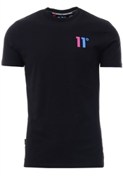 11degrees Black Solar Back Graphic T-Shirt