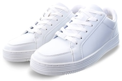 Certified White Lace Up Trainer