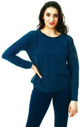 Only Blue / Gibraltar Sea Texture Knitted Pullover
