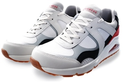 Skechers White Uno Super Fresh Trainer