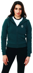 Gym King Forest Green Gk Jenner Zip Through Hoodie