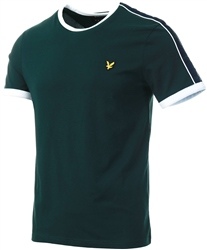 Lyle & Scott Jade Green Taping Ringer T-Shirt
