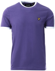 Lyle & Scott Violet/White Ringer T-Shirt