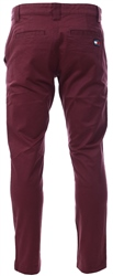 Tommy Jeans Burgundy Stretch Organic Cotton Chinos