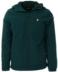 Lyle & Scott Jade Green Zip Through Hooded Jacket
