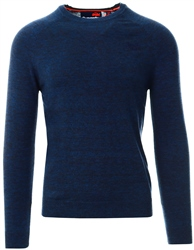 Superdry Blue Orange Label Cotton Crew Jumper