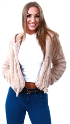 Only Cuban Sand Sherpa Jacket
