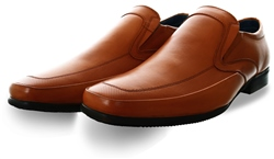 Escape Tan Round Toe Slip On Shoe