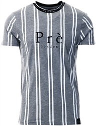 Pre London Grey /White Stripe T-Shirt