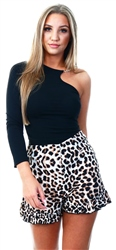 Influence Multi Leopard Print Shorts