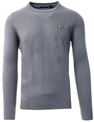 Brave Soul Silver Grey Marl Crew Neck Knit Sweater