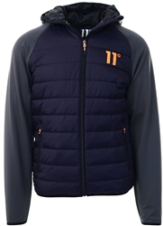 11degrees Navy/Charcoal Neoprene Hybrid Jacket