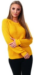 Vila Yellow / Golden Rod Solid Knitted Pullover