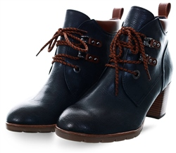 Marco Tozz Navy Lace Up Boot