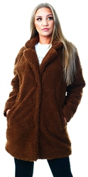 Only Brown / Potting Soil Sherpa Coat