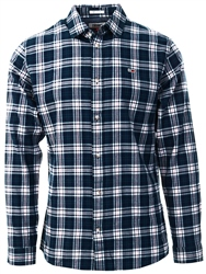 Hilfiger Denim Black Iris / Green Regular Fit Windowpane Check Shirt