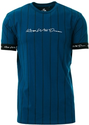 Kings Will Dream Sail Blue / White Clifton Pinstripe T-Shirt