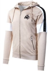 Kings Will Dream Sand / Beige Tarves Full Zip Hooded Top