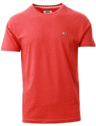 Hilfiger Denim Flame Scarlet Organic Cotton Heather T-Shirt