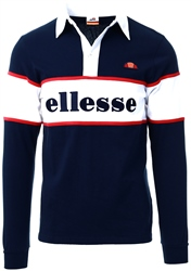 Navy Taylor Long Sleeve Polo by Ellesse