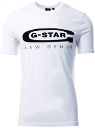 Gstar White Graphic 4 Slim T-Shirt
