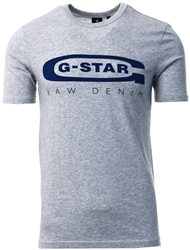 Gstar Light Grey Heather Graphic Logo 4 T-Shirt