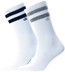 Calvin Klein White Sports 2 Pack Socks