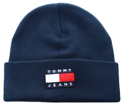 Hilfiger Denim Navy Knitted Flag Beanie