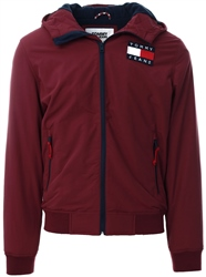 Hilfiger Denim Burgundy Padded Zip-Thru Jacket