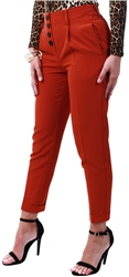 Pieces Red / Picante Button Trousers