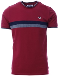 Le Shark Beet Red Cromwell Racer Stripe Panel Cotton Pique T-Shirt