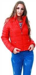Veromoda Red / Chinese Red Padded Jacket