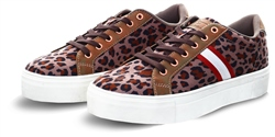 Dv8 Brown Leopard Print Panel Trainer