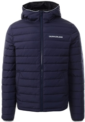 Calvin Klein Navy Padded Hooded Jacket