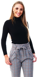 Brave Soul Black Fine Knit Polo Neck Jumper