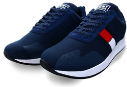 Tommy Jeans Navy Textured Flag Trainers