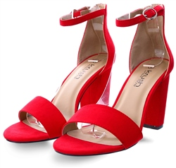 Krush Red Block Heel Shoe
