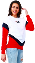 Fila White / Peacoat / Chinese Red Athletic Sweatshirt