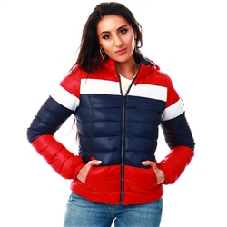 Brave Soul Red Padded Jacket