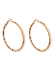 Re Born Gold 80mm Tube Hoop Earring