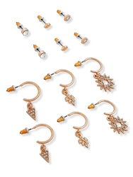 Re Born Multi Ethnic Mini Charm Mix 6 Pack Earrings