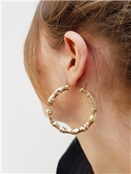 Re Born Mty Bamboo Hoop Earring