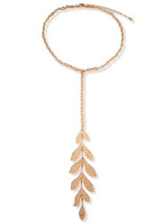 Re Born Mty Statement Leafy Drop Necklace
