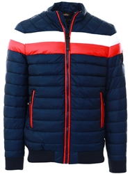 Guess Navy/White/Red Camo Lined Padded Jacket