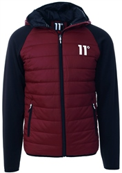 11degrees Burgundy/Black Neoprene Hybrid Jacket