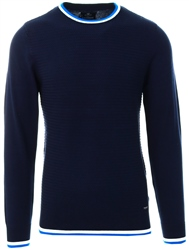 Threadbare Navy Round Neck Knit