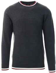Threadbare Charcoal Calan Round Neck Knit