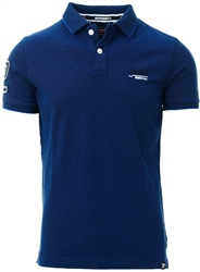 Superdry Royal Blue Grit Classic Pique Short Sleeve Polo Shirt