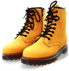 No Doubt Yellow Lace Up Boot