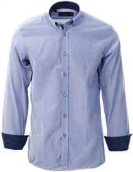 Ottomoda Navy Stripped Button Down Shirt